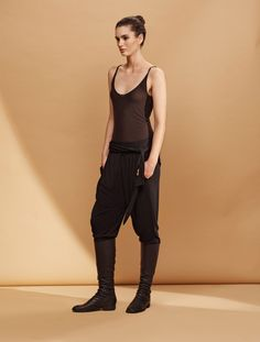 Urban Zen | Weighted Jersey Karate Pant (Black)