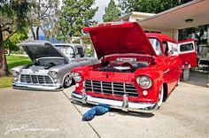 Classic trucks 1956 Chevy pu and panel 57 Chevy Trucks, Classic Chevy Trucks, Gm Trucks, Cool Trucks, Pickup Trucks, Classic Cars, Rockabilly, Automobile, Cx 500