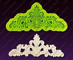 Edna Silicone Enhanced Lace Mold for Cake Decorating, Arts & Crafts