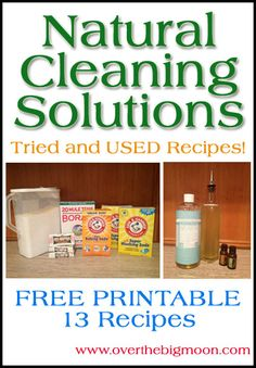 Natural Cleaning Solutions   Recipes Printable