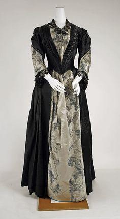 Dress, Evening  Date: 1885–89 Culture: American Medium: silk, glass, cotton
