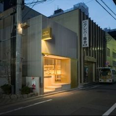 Case-Real combines a patisserie  with a wine bar in Fukuoka Great reference for the signage and the entrance.