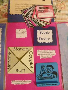 Kids could create their own poetry lapbook over the year with poetry samples...Doing this to end the year!
