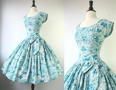 Vintage Turquoise day dress
