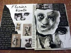 Springwood School - A Level Fine Art -You can find A level art and more on our website.Springwood School - A Level Fine Art - Kunstjournal Inspiration, Sketchbook Inspiration, Sketchbook Ideas, Art Pages, Art Journal Pages, Arte Gcse, Portfolio D'art, Fashion Portfolio, Art Mots
