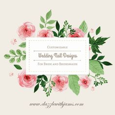 Learn about Jamberry - affordable, durable, and long lasting do-it-yourself nail wraps that can be customized to your wedding theme or color for the bride and bridesmaids at www.dazzlewithjams.com