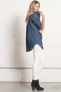 Botins e camisa de ganga, ideal para a Primavera fresca - Primavera Fresca - spring style
