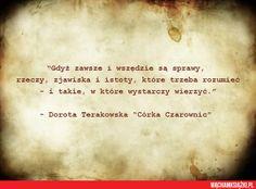 "Dorota Terakowska - ""Córka czarownic"""
