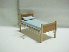 Hospital Bed Cherry Handcrafted Dollhouse Mini | eBay