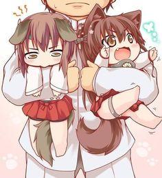 They are like : bitch please we're kawaii as fuck. Anime Chibi, Chibi Cat, Anime Girl Neko, Kawaii Chibi, Cute Chibi, Kawaii Cute, Anime Art, Cute Neko Girl, Kawaii Girl
