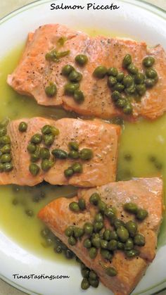 Salmon Piccata - the tangy and creamy sauce makes this salmon unforgettable!