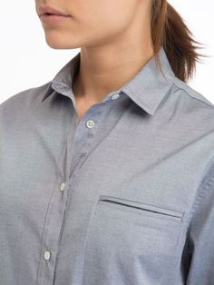 The Boyfriend Button Up Shirt in Light Blue - Zady. sustainable style | sustainable fashion