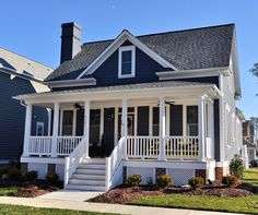 My Current Fave Residential Architect: Allison Ramsey- Coosaw River Cottage Navy Blue