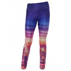 City Digital Print Skinny Gym Leggings