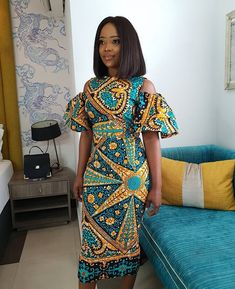 browse our collection of modern African Ghanaian Ankara dress styles 2019 for African American women to rock this year and to stay keep up with the latest trends in the African and Ghanaian fashion trend in Africa and around the world. African Fashion Designers, Latest African Fashion Dresses, African Dresses For Women, African Print Dresses, African Print Fashion, Africa Fashion, African Attire, African Women, Ankara Fashion