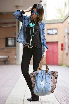 Pisando fuerte moda hippie, moda casual, moda boho, look bohemio, moda de i Moda Hippie, Moda Boho, Denim Fashion, Look Fashion, Bon Look, Look Jean, Mein Style, Looks Black, Womens Fashion Casual Summer