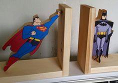 Buchstützen Buchstütze Superheld Buch Superman Batman von Ntoys