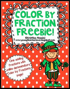 FREE! Color by Fraction Freebie for St. Patrick's Day! Students solve fraction problems and color in their products to create a fun, St. Patrick's Day picture!- Kristine Nannini