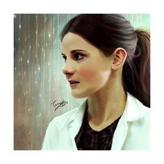 Molly Hooper Art Print ❤ liked on Polyvore featuring home, home decor and wall art