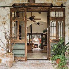 :: iron + wood sliding doors