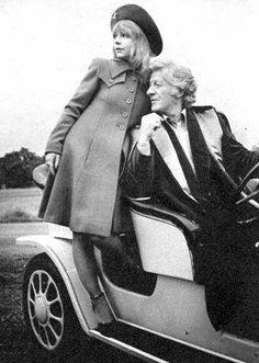 Katy Manning and Jon Pertwee in Doctor Who