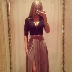 Gender: Women Waistline: Empire Brand Name: Feitong women party dress vestidos Fabric Type: Broadcloth Dresses Length: Ankle-Length Silhouette: Straight Neckline: V-Neck Sleeve Length: Full Decoration