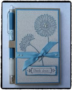 Hier scrapt und stempelt das papiertier: Post It Note & Pen Holder — VIP-Donnerstag #31/2012