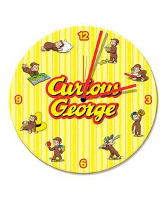 Take a look at this Curious George Wall Clock by Curious George on #zulily today!