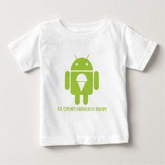 Ice Cream Thoughts Inside (Android Bug Droid) Tee T Shirt, Hoodie Sweatshirt