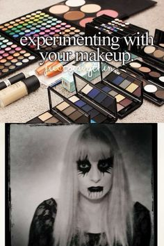Experimenting with your makeup