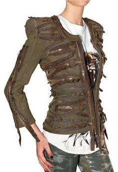 Balmain's SS 2010 zipper jacket - I'm so obsessed with this jacket!