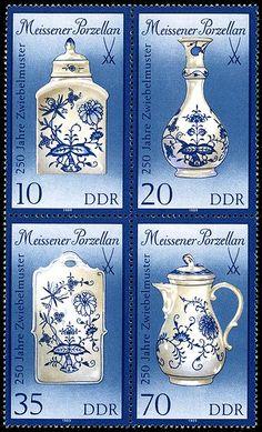 Germany (DDR), 1989. Meissener Porzellan - Meissen Porcelain company stamp set