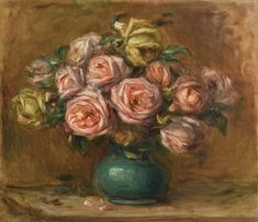 Impressionist Modern Art Evening Sale View Auction details, bid, buy and collect the various artworks at Sothebys Art Auction House. Pierre Auguste Renoir, Impressionist Art, Impressionism, Vase Vert, August Renoir, Most Beautiful Paintings, Rene Magritte, Best Portraits, Flowers