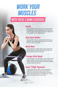 Coach Cody's Band Exercises to help with your muscles. Workout Guide, Workout Gear, Gym Workouts, How To Squat Properly, Fitness Tips, Fitness Motivation, Resistance Band Exercises, Get Healthy, Glutes