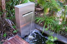 Bring a tranquil touch to your garden with a water feature.  The sound of tinkling water soothes the weariest of souls.  Water features come in all sizes, so no matter how small a space you are working with you can find a perfect spot for one.  Whether you are striving to create a fun, whimsical feeling, a Zen quality or a formal elegance, there is a water feature that will help you accomplish your goal.