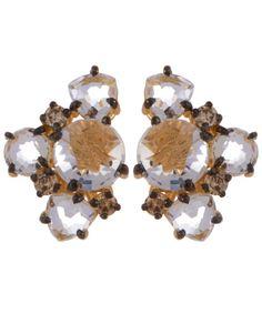 Suzanne Kalan Gold Cluster Diamond Earrings