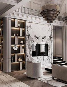Living Room Modern, Living Room Interior, Living Room Designs, Interior Livingroom, Luxury Homes Interior, Luxury Decor, Decoration Bedroom, Interior Design Business, Classic Interior