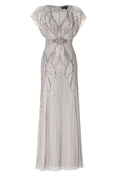 Sequin Embellished Gown in Platinum by JENNY PACKHAM
