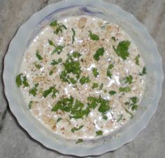 Boondi Raita Recipe Yoghurt – 2 cups (whipped) Chilled water – as per requirement Boondi – 1 cup Coriander leaves – 2 tbsp (chopped) Roasted cumin powder - 1 tsp Red chilly powder – 2 pinch  Salt – to taste black salt