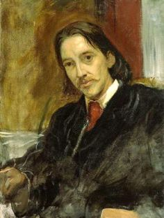 Portrait of Robert Louise stevenston by William Blake.