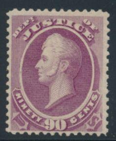 United States Officials stamp (USOFF). Latest Scott Catalog Value: $1,900. Stock # 343672 || #philately