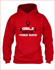It's no secret that girls wear cooler than boys when it comes to fashion. So we decided to make a shirt with simple design but had a strong since of message through out the world! Mens Sweatshirts, Hoodies, Hate Men, Making Shirts, Girls Wear, Simple Designs, Feminism, Cool Girl, How To Make