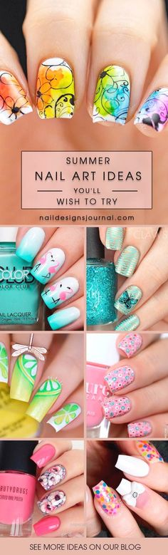 Summer nail art is a final touch to your bright image. Need some inspiration for…