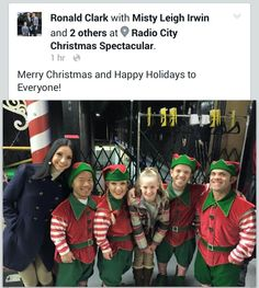 "RONALD CLARK (far left), NY ""RADIO CHRISTMAS SPECTACULAR"" '15"