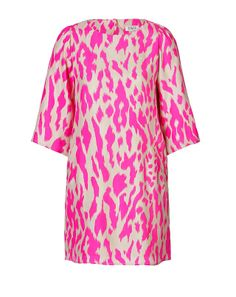Steffen Schraut Silk Hysteric Animal Print Tunic Dress