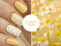 White and Yellow Nail Design
