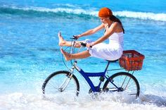 Life is a beach, bike and basket