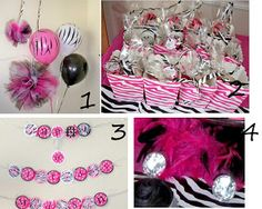 My Creative Way: Hot Pink Zebra Diva Birthday Party Ideas