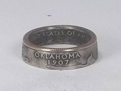 Coin Ring Oklahoma State Quarter by Richsringsnthings on Etsy