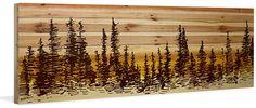 Pine tree sunset natural pinewood wall art.  #art#home decor#pine #zulily#ssafflink